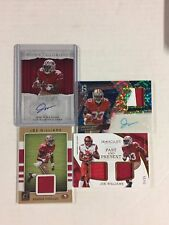JOE WILLIAMS ROOKIE 5 CARD AUTO & JERSEY LOT, SERIEL NUMBERED