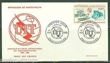 UPPER VOLTA   CENTENARY OF THE INT'L TELECOMMUNICATION UNION  FIRST DAY COVER