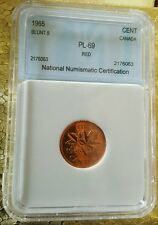 "1965 Canada 1 Cent "" RED "" Uncirculated High Grade Penny"