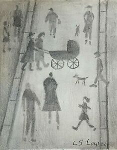 L.S. Lowry - Original  drawing on paper