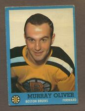 1962-63 Topps Hockey No. 12 Bruins Murray Oliver Vg