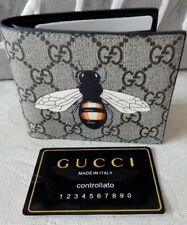 GUCCI GG BLACK LEATHER WALLET BUMBLE BEE - MADE IN ITALY  - 451268 -  £260 BNWOB