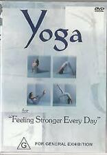 YOGA FOR FEELING STRONGER EVERY DAY (DVD) R-ALL, LIKE NEW, FREE POST AUS-WIDE