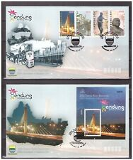 Indonesia 2010 FDC Bandung City Bridge Statue Traffic Soccer + S/S