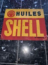 Plaque Tole Huiles Shell Pour Caisse A Bidon No Emaillee