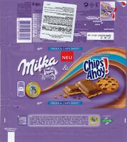 Plastic Chocolate Wrapper / Schokoladenpapier: Milka Chips Ahoy! 100g; CE, 2014