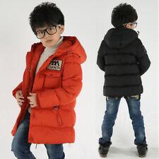 Winter Kids Boys Hooded Warm Quilted Puffer Coat Jacket School Trendy Parka 4-12