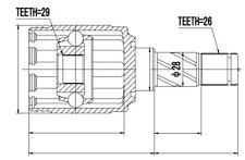 GELENKSATZ, INNEN VOLVO V60 10-, V70 08-11, S60 10-, S80 07-, XC / HINTEN