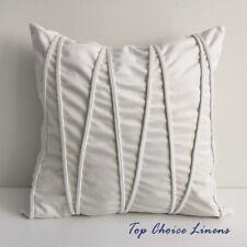45cm x 45cm Home Sofa/Louge Decoration Cream Velvet Pipe Cushion Cover