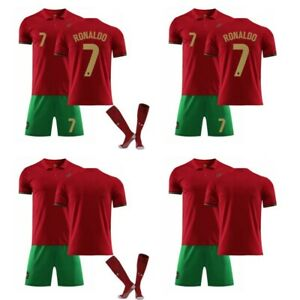 2021 Portugal National Home Jersey # 7 Ronaldo Herren-Kinder-Fußball Trikot neu