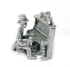 Vintage Plata en movimiento nasal Tonk Piano Jugador encanto