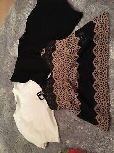 Top Shop / New Look Ladies Size 12  Bundle Of 3 Tops