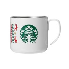 Starbucks JAPAN 2017 Holiday Stainless Mug Sweater White 355ml