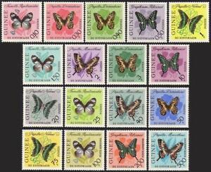 Guinea 291-304,C47-C49,MNH.Michel 183-199. Butterflies 1963
