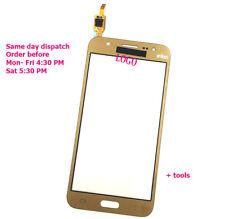 SAMSUNG Galaxy J5 SM-J500 J500F Oro Touch Screen Digitizer vetro naturale J5 2015