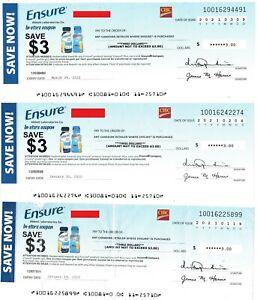 save on ENSURE + Bonus [Canada] {A cheque