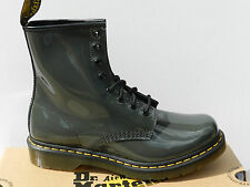 Dr Martens 1460 Chaussures Femme 41 Patent Lamper Bottes Bottines Pascal UK7 New