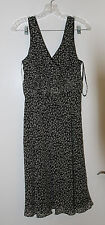 Ann Taylor - Black & White Floral Print Sheath Dress-new with tag still attached