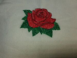 Personalized Embroidery Baby Blanket  with a Rose