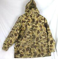 Vintage Camo Hunting Jacket Raewiks Ultimate Bird Coat Hood River Run Sz L Mens
