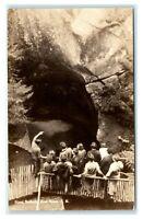 Postcard Giant Pothole, Lost River NH tour guide c1936 RPPC J43