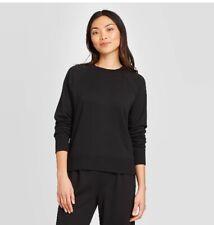 Women's Raglan Sleeve Sweatshirt - A New Day - Black, XS