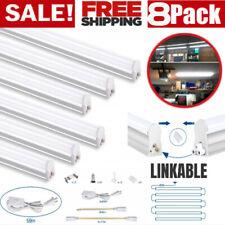 8 Pack T5 LED 4FT Lights Garagе Shop Linkable 4000K Super Bright Ceiling Fixture