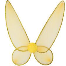 Schmetterlingsflügel Elfe Wald Fee Feen Flügel Feenflügel Fasching Karneval gold