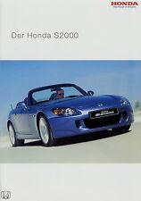 Prospekt Honda S 2000 12 03 2003 Autoprospekt Broschüre Sportwagen brochure Auto