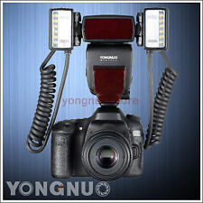 Yongnuo Macro Master TTL YN24EX 2pcs Flash Head Speedlite for Canon + 4pcs Rings