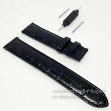 Tissot Black Leather Straps 19mm WatchBand PRS200 PRC200 PR100 LeLocle w/o clasp
