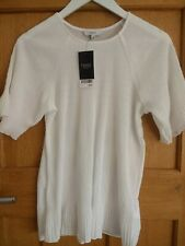 Next White Crinkle Top Size 10 New BNWT RRP £24