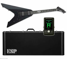 ESP LTD James Hetfield Vulture Black Satin BLKS NEW Electric Guitar + GOGO TUNER