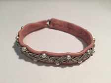 Saami Crafts Bracelet Leather, Silver & Pearls Pink Leather &