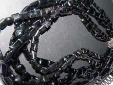 signed 925  sterling silver catch five strand black choker necklace