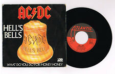 """AC DC """"HELL'S BELLS"""" FRENCH 7"""" VERY RARE"""