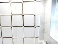 Shower Curtains Modern Designer Washable Shower Curtains**Eyelets & 12 Hooks**