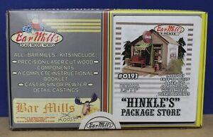 Bar Mills 0193 S Scale 1;64 Hinkle's Package Store Laser Cut Craftsman kit NIB