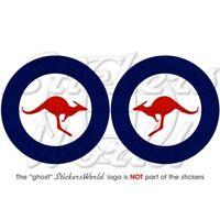 AUSTRALIE Force Aérienne Avion Cocarde 75mm Stickers Autocollants x2