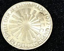 Olympische Spiele 1972, 10DM Silbermünze Spirale DEUTSCHLAND - F Materialfehler