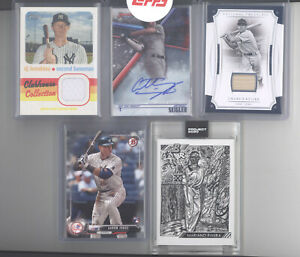 New York Yankees auto jersey serial # RC 10 card lot Rivera Project 2020 Judge