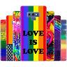 dessana LGBTQ+ Rainbow Silikon Schutz Hülle Case Handy Tasche für Samsung A J
