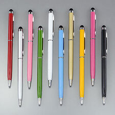 10x Assorted Color Stylus Pen iPhone Galaxy HTC Nokia Tablets 2 in 1
