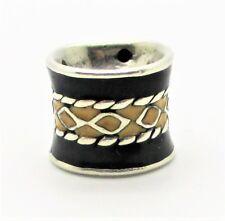 925 Silver Enamel Drums Bead Fit European Bracelets