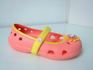Crocs Ballerina keeley petal kids  melone gelb  C 10 Gr. 27 28 apricot lachs