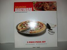 Tools Of The Trade Pizza 3 Piece Pizza Set Pan, Crisper And Cutter Included New