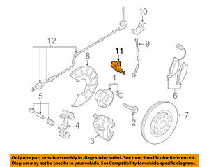 VW VOLKSWAGEN OEM 05-15 Jetta ABS Anti-lock Brakes-Front Speed Sensor WHT003856