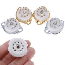 More details for 1pc chassis mount 9pin ceramic tube socket for el84 ecc82 6922 12ax7 folduk jf