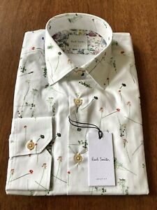 "Paul Smith Tailored Fit Shirt In Liberty Floral Print, Size S 15"" Collar"