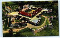 Aerial View Fort Ticonderoga Museum Fort Ticonderoga NY Vintage Postcard A48